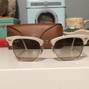 CLUBMASTER Ray Bans w/ Pearl Colored Frame